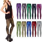 New Fashion 11Color Womens Mermaid Fish Scale Skinny Stretch Slim Pants Leggings
