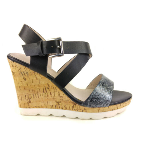 NEW WOMENS LADIES SUMMER WEDGES WEDGE CORK HEEL STRAPPY SANDALS SHOES SIZE 2-7