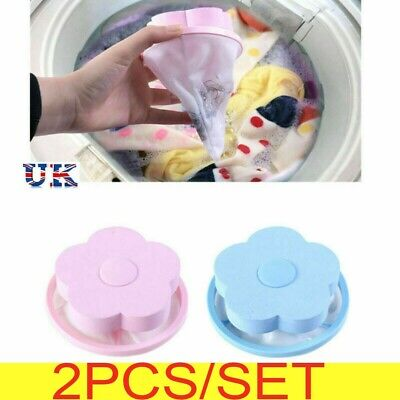 2X Laundry Filter Bag Floating Pet Lint Hair Catcher Washing Machine Mesh Pouch