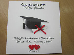 image is loading personalised handmade congratulations on your graduation card