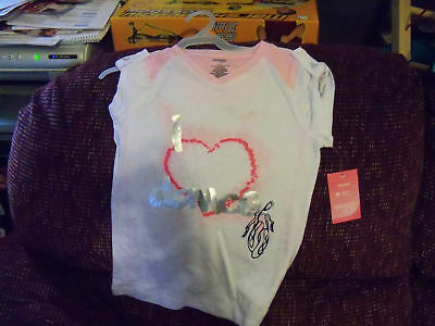 GIRL/'S NEW 10//12 DISNEY LILO /& STITCH LOVE BITES HEART PINK T-SHIRT SIZE M