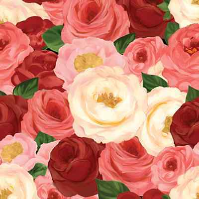 Bouquet Moderne, South Sea Imports, Packed Roses REMNANT (32 inches