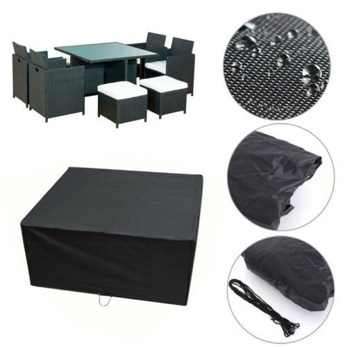 Square Cube Seating Garden Furniture Protective Cover Table and Chairs Set Cases