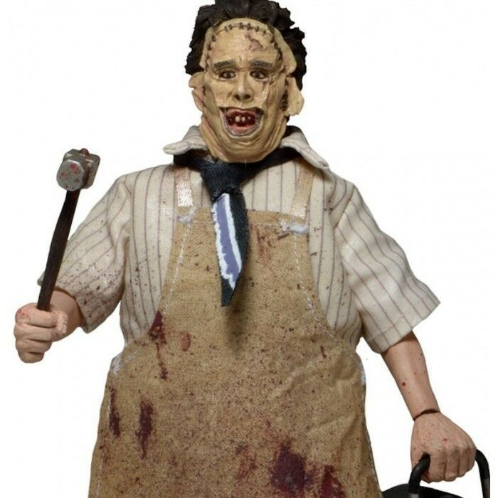 NECA TEXAS CHAINSAW MASSACRE LEATHERFACE LEATHERFACE LEATHERFACE FIGURE DOLL 8  PART 2 ACTION RETRO 7cc47e