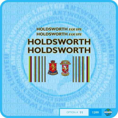 Bicycle Decals Transfers Stickers Black // Gold Holdsworth Equipe Set 11