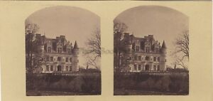 Château Da Chenonceaux Francia Foto Stereo Vintage Albumina Ca 1860