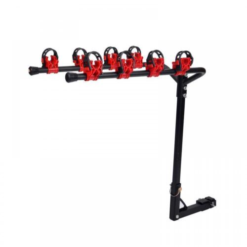 """Bike Carrier Portable 4 Bicycle Rack Trailer Hitch 1-1//4/""""/&2/""""  Car SUV Red/&Black"""