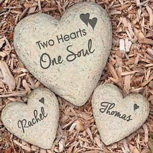 ... Personalized Wedding Garden Stone Set Engraved Heart Garden