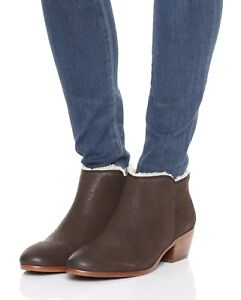 6549a9b0849e Image is loading NIB-Sam-Edelman-Petty-Leather-Shearling-Ankle-Bootie-