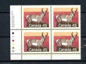Canada-MNH-Plate-Block-1172-Pronghorn-LL-1990-H218