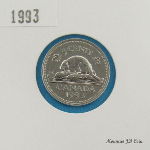 1993 Canada 5 Cents Specimen From Set