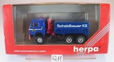 Herpa 1/87 Mercedes Benz Zugmaschine 3 Achsen Schwerlast Schmidbauer KG OVP#5211