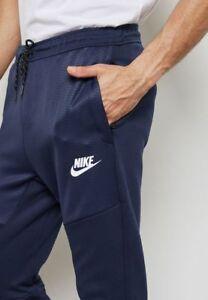 1cf68dfb01e2 Nike Advance 15 Men s Hybrid Pants S Blue White AV15 Joggers ...