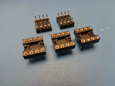 5) RN ICE-083-S-TG 8 pin DIP 300mil tin lead Closed Frame IC Socket