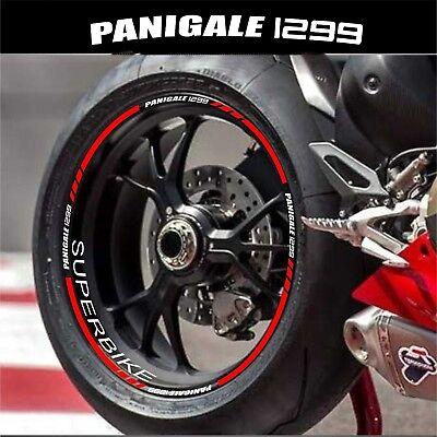 Blanc Brillant Jante de moto d/écalcomanies autocollant accessoire pour Ducati 1199 Panigale