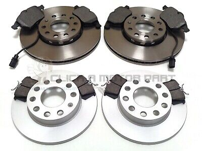 AUDI A4 CABRIOLET B6 1.8 2.4 02-06 REAR 2 BRAKE DISCS /& PADS CHECK SIZE 255MM