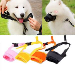 Pet Dog Adjustable Mask No Barking Bite Mesh Mouth Muzzle Anti Stop Chewing New