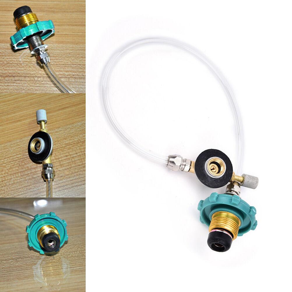 Camping coupleur Gas propane adaptateur de recharge coupleur Camping à cylindre plat IU 548345