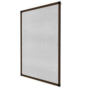 insektenschutz fliegengitter fenster alurahmen alu m ckenschutz braun 100x120cm ebay. Black Bedroom Furniture Sets. Home Design Ideas