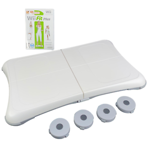 Nintendo Wii Fit Balance Board w/ Feet & Wii Fit Game Bundle Clean Tested RVL201