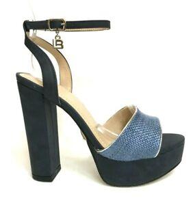 Women-039-s-Shoes-Laura-Biagiotti-Sandals-High-Heel-5471-Navy-Summer-2019-Discount