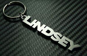 LINDSEY-nombre-personalizado-llavero-a-medida-Acero-Inoxidable-Regalo