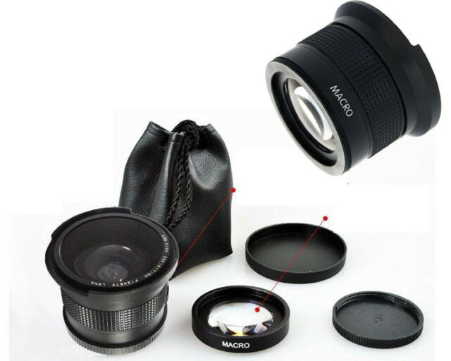 0.35x Super Fisheye Lens Wide Angle Macro 58mm for Canon Rebel T3i T3 T2i T1i T2