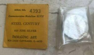 Heraldic Art Sterling Silver .925 Medal - Steel Century - Steel City