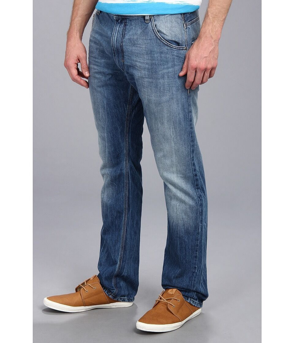 Diesel Krooley 1rbrt Mens Regelmäßig Schlanke Karotte Enge Jeans Authentic Authentic Authentic Neu a1b632