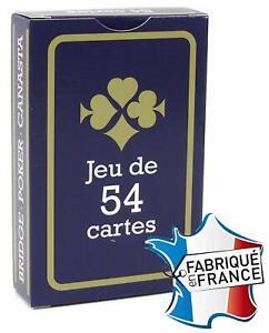 Jeux-de-54-Cartes-France-Jeux-de-Carte-poker-rami-bridge-Gauloise-bleu