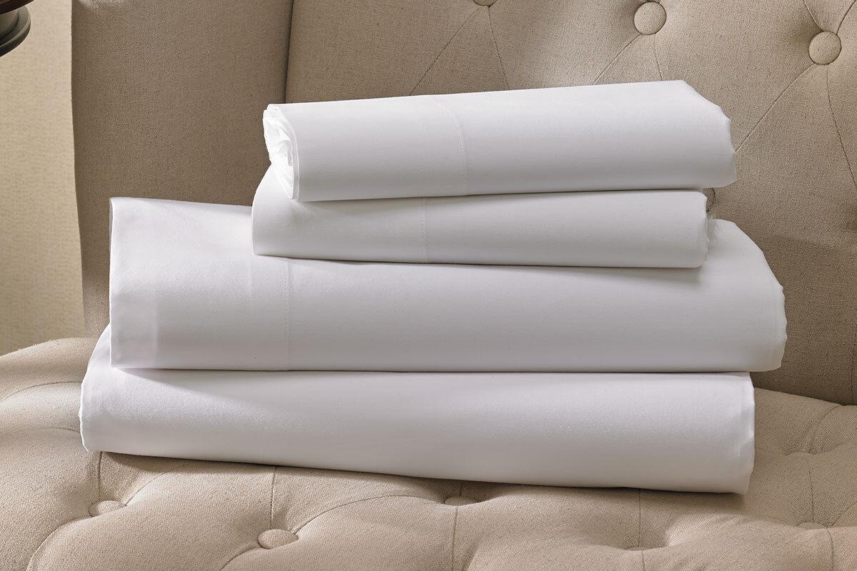 12 roi Blanc Hotel Draps Plats t200 Percale 108x110 Haute Qualité american made