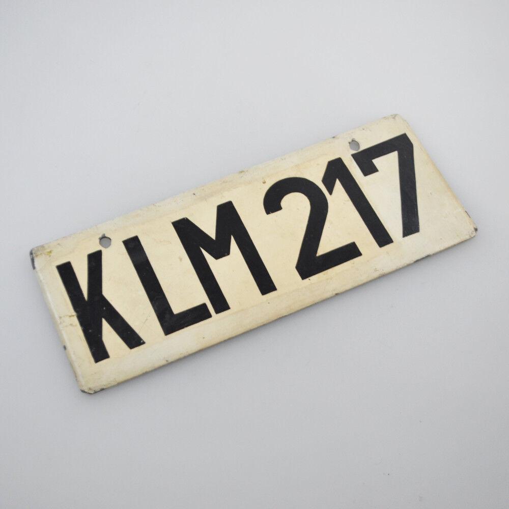 Antiguo escudo carro para el equipaje Aeropuerto Aeropuerto Aeropuerto de Bremen  klm 217  - escudo de metal-número de vuelo 7a70c9