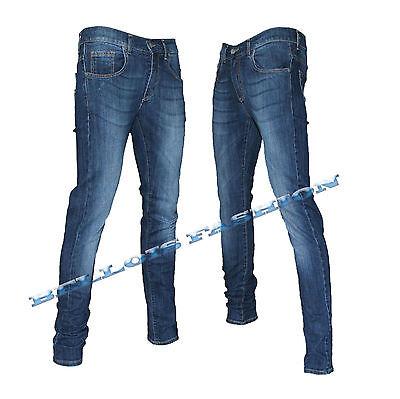 Pantaloni KLixs Jeans Uomo Art 01186T Vita Bassa Strappo 42 44 46 48 50 52 54