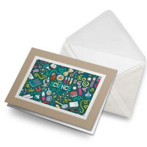 Greetings-Card-Biege-Science-Biology-Chemistry-Physics-Uni-8169