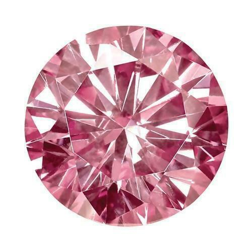 Obligatorisch 9096 - If - Diamant/brillant/synthese 0,80 Ct. Pink 5,00 Mm Aaa+ Top Stein !
