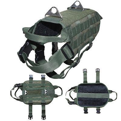 Tactical Military Police Security Dog Harness Vest Training Service Dog Vest