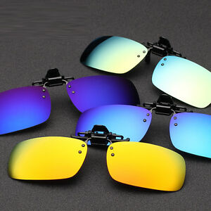 Retro-Clip-on-Mirror-Sunglasses-Lens-UV400-Driving-Fishing-Glasses-Eyewear