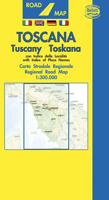 Stradale Cartina Geografica Toscana.Toscana Cartina Regionale Stradale Scala 1 300 000 Carta Mappa Belletti Ebay