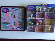 2006 Littlest Pet Shop Set Collectors Edition Tin accessories Pig Cat Dog Panda