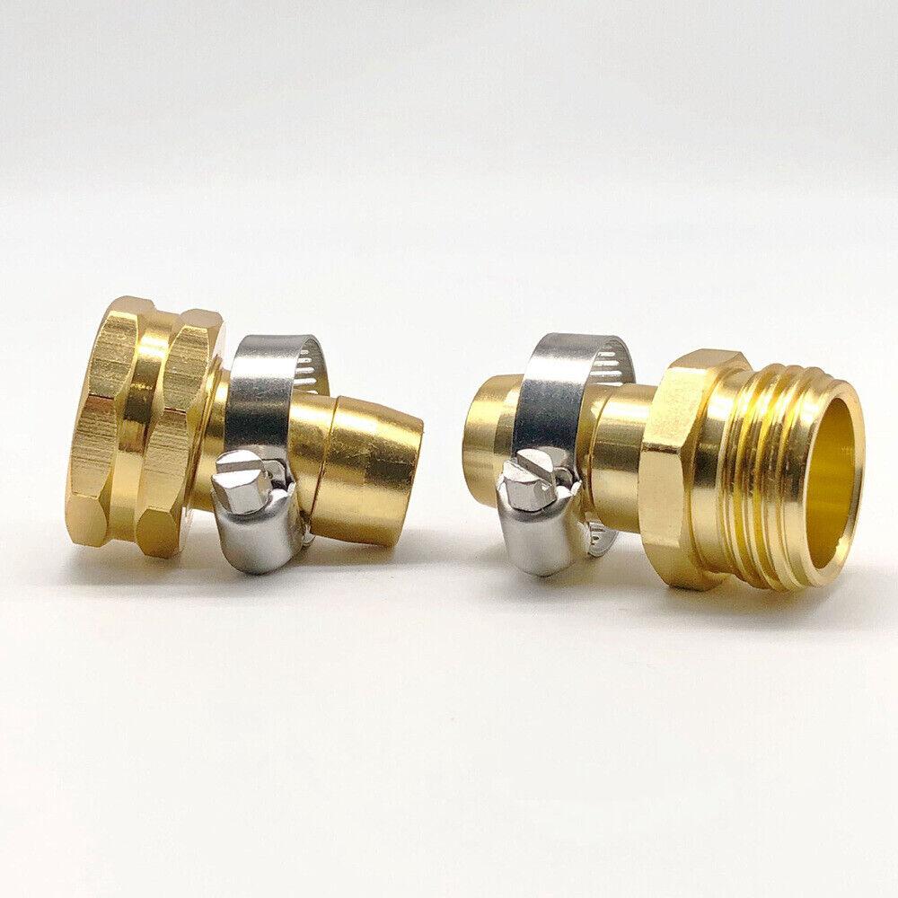 "4 MELNOR 5//8/"" Brass Hose Mender Clinch Broken Hose Repair"
