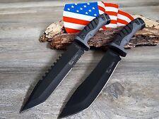 2 Jagdmesser Messer Knife  Buschmesser Coltello Cuchillo Couteau Hunting NEU