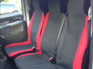 MK8 - DELUXE GREY//BLACK VAN SEAT COVERS SINGLE FORD TRANSIT DOUBLE
