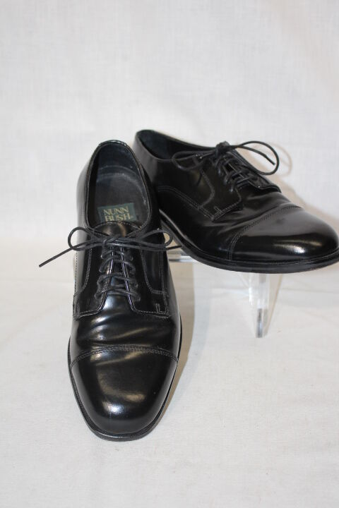 NUNN Flex BUSH Black Leather Dress Flex NUNN Mens Oxford Style Cap Toe Shoes Size 9M-B86 1c36dd