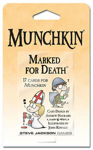 Munchkin-Marked-For-Death-Booster-Card-Game-Adds-15-Cards-Steve-Jackson-SJG-4210