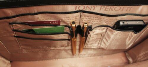 lederen afsluitbaar Tp dames 8965g Tony Perotti Italiaanse taszwart koffertje f76byg
