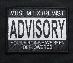 MUSLIM-EXTREMIST-VIRGINS-ADVISORY-USA-MILITARY-ISAF-TACTICAL-HOOK-MORALE-PATCH