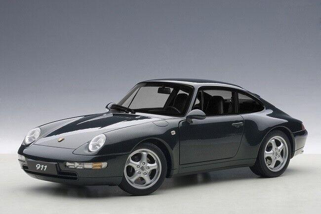 AUTOART 78134 - 1 18 PORSCHE 993 CARRERA (1995) - Dark vert Metallic-NEUF