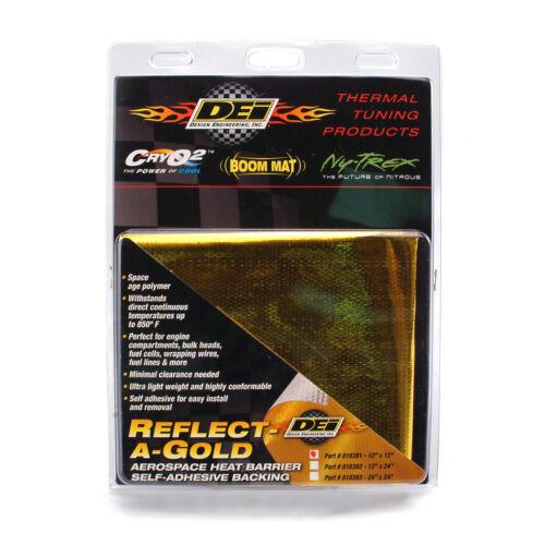 "DEI Reflect A Gold Engine Intake Heat Barrier 24/""x24/"" Sheet Heat Wrap 010393"