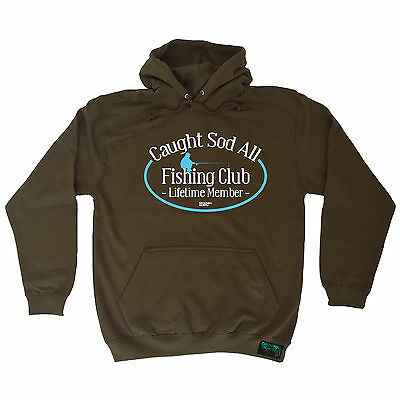 Caught Sod All Drowning Worms SWEATSHIRT jumper birthday gift gear funny fishing