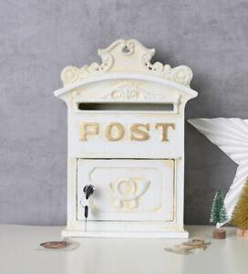 Wandbriefkasten-Antik-Briefkasten-Landhausstil-Postbox-Wandpostkasten-Metall